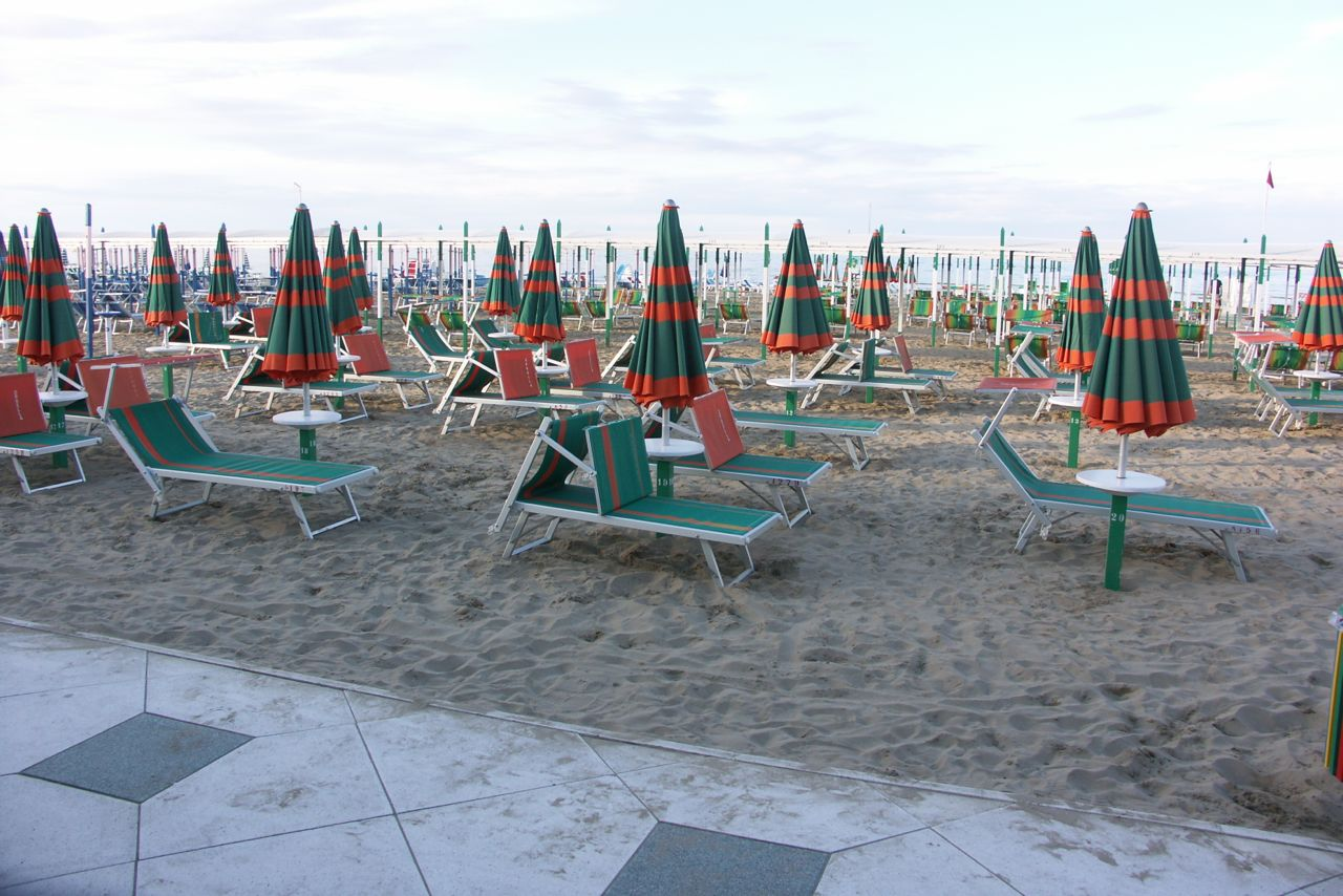 A Beach in Cesenatico, Italy
