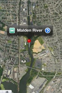 Satellite View of the Malden River