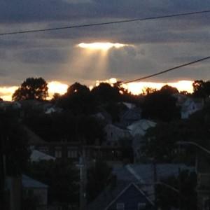 Sun Rays Through the Hole